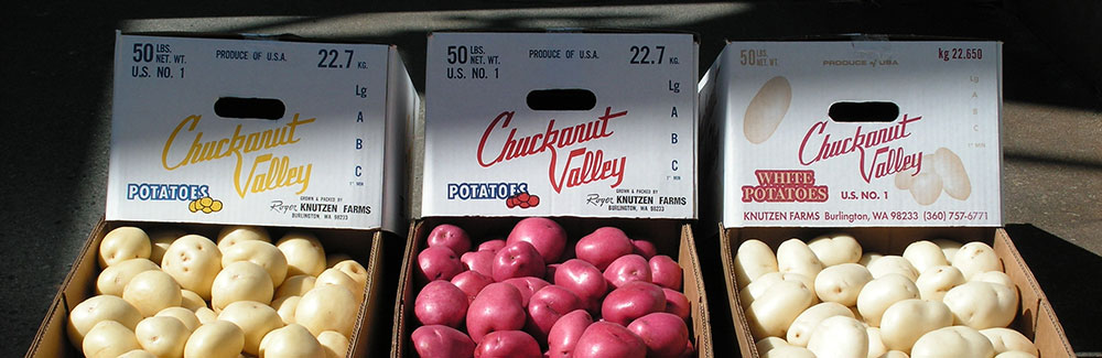Yellow, Red, and White potatoes